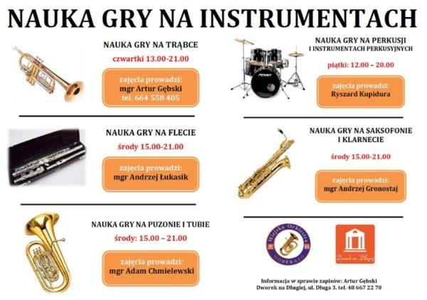 Nauka gry na instrumentach w Orkiestrze Moderato