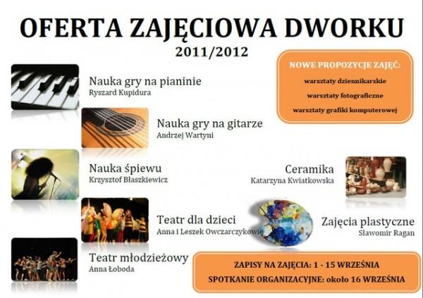 Zajęcia w Dworku z sezonie 2011/2012