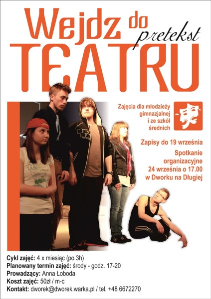 Teatr mlodziezowy - plakat zm