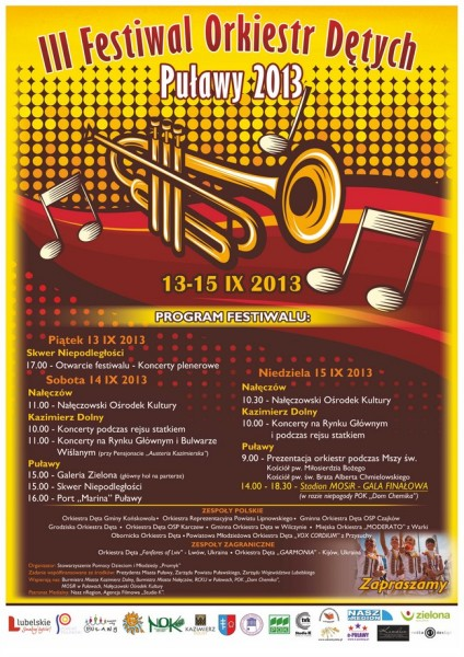 plakat - festiwal w puławach
