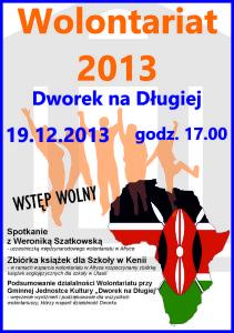 Plakat Gala Wolontariuszy Dworku 2013
