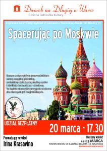 plakat WAW - Spacer po Moskwie