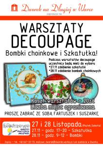 Plakat ROBOTKOWO  bombki i sztaulka