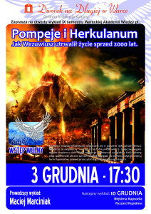 Plakat WAW - Pompeje