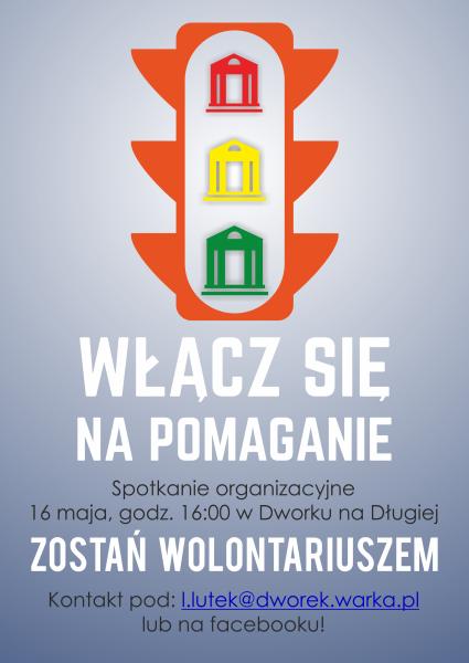 Plakat nabor na wolontariuszy 2
