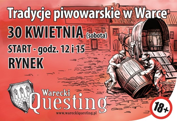 Plakat promocja questu piwnego zm