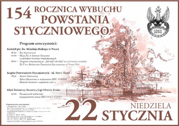 Plakat Powstanie Styczniowe 2017